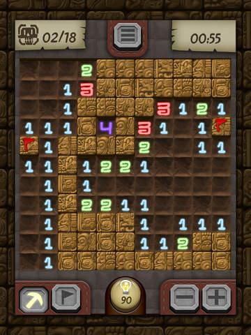 Temple Minesweeper - El Dorado Adventure with Mine Sweeper Gameplay screenshot #2