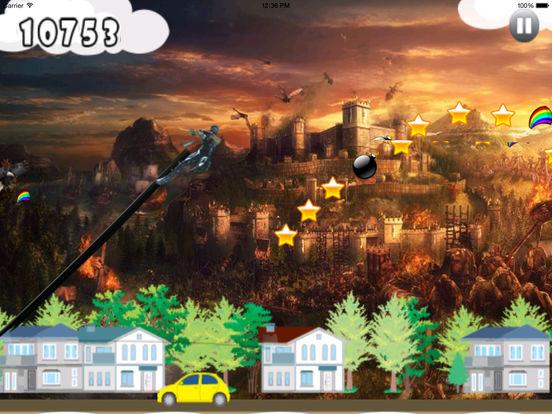 A Stunt Of Ninja Jump - Awesome Warrior Doodle Swint Game screenshot 10