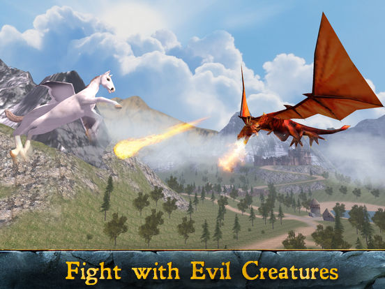 Flying Pegasus: Magic Horse Simulator 3D screenshot 7