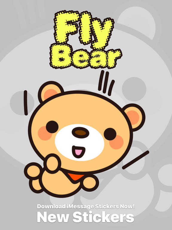 Fly Bear Sticker Pro - Cute & Emotional Stickers screenshot 6