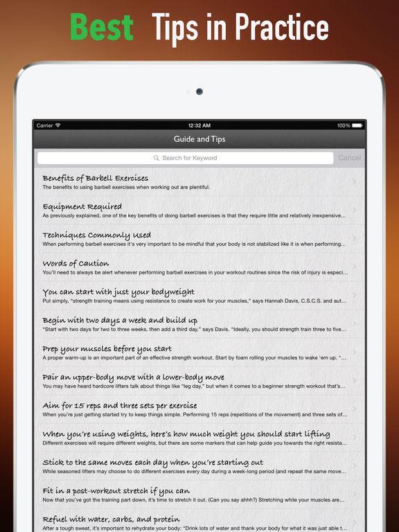 Basic Barbell Training Tips:Starting Strength screenshot 9