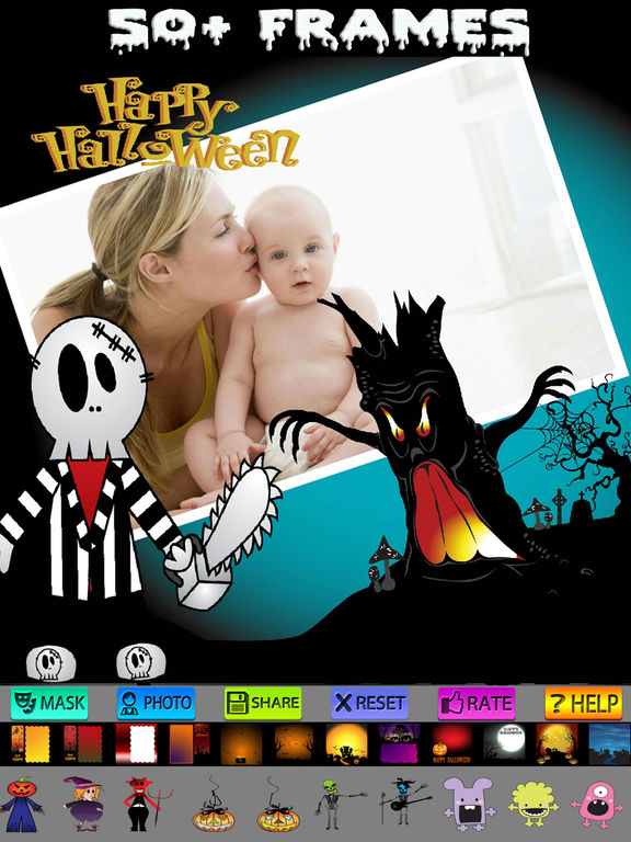 Halloween Cards and Photo Frames screenshot 8