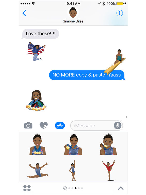 Simone Biles ™ by Moji Stickers screenshot 4