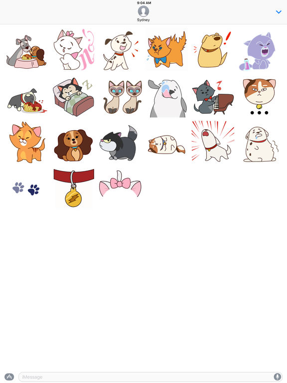 Disney Stickers: Cats and Dogs screenshot 7