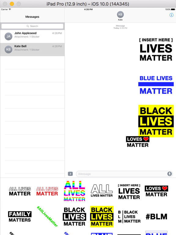 All Lives Matter Stickers screenshot 3