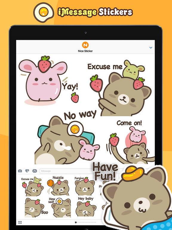 Strawberry Cat - Cute Stickers by NICE Sticker screenshot 7