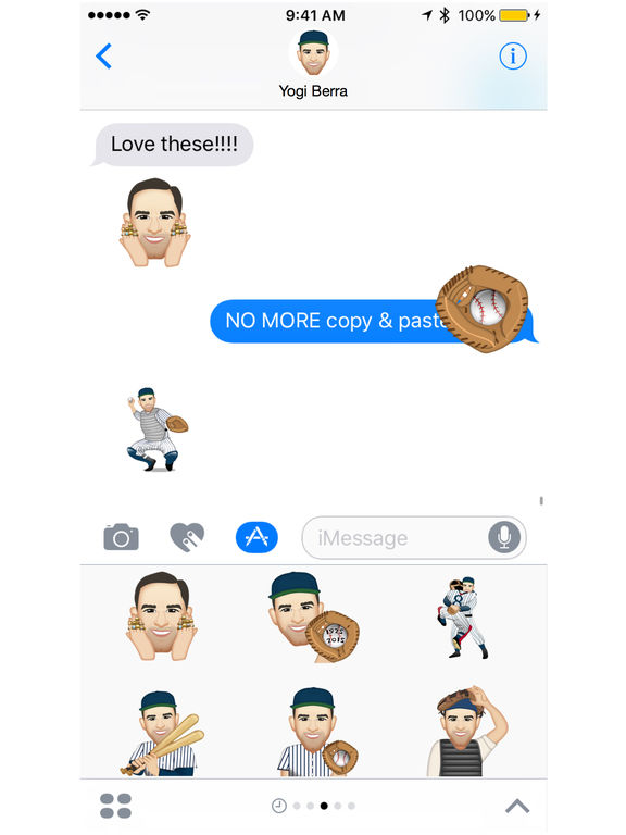 Yogi Berra ™ by Moji Stickers screenshot 4