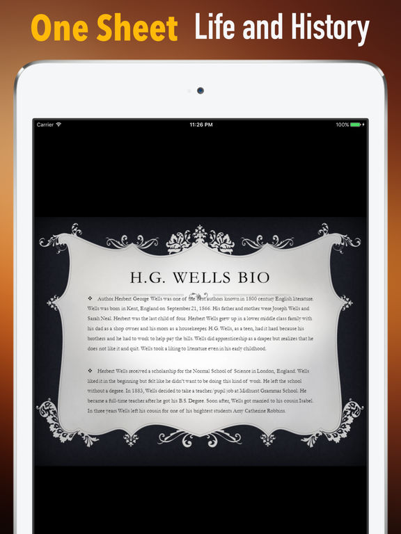 Biography and Quotes for H. G. Wells screenshot 7