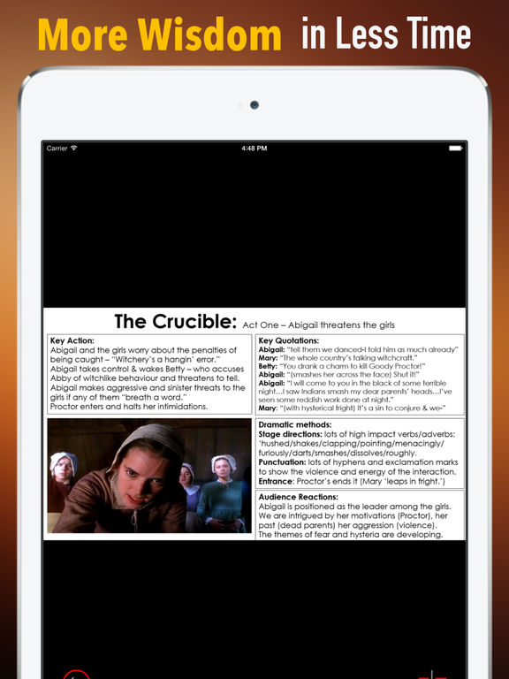 Study Guide for The Crucible: A Play in Four Acts screenshot 6