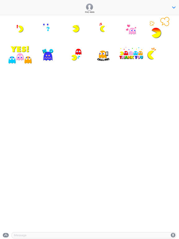 PAC-MAN Moving Stickers screenshot 3