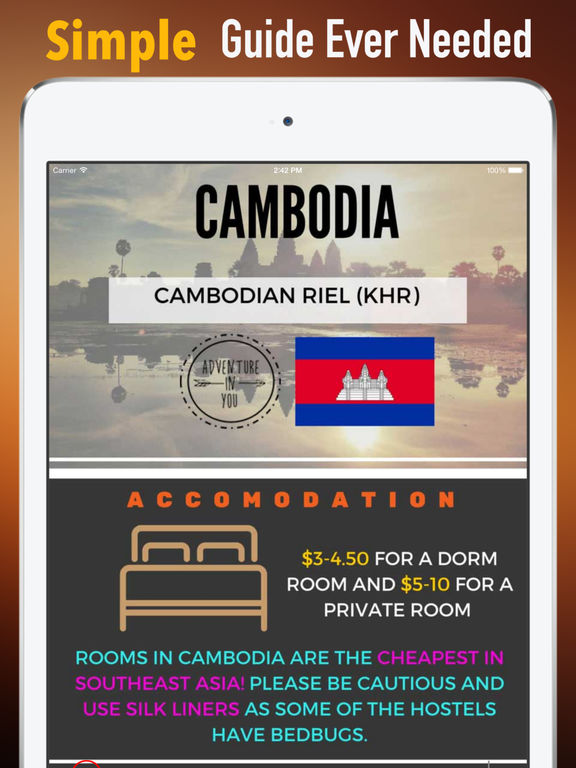 Cambodia Travel:Raiders,Guide and Diet screenshot 7