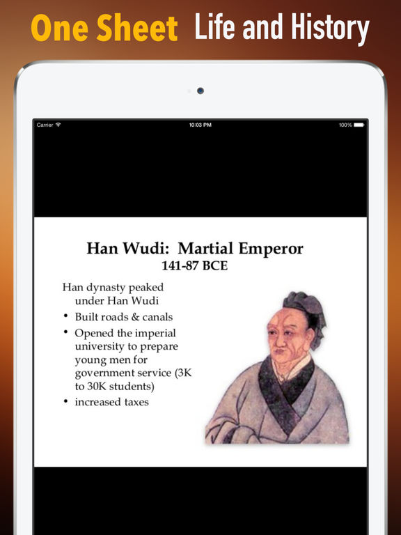 Biography and Quotes for Han Wu Di:Life and Video screenshot 7