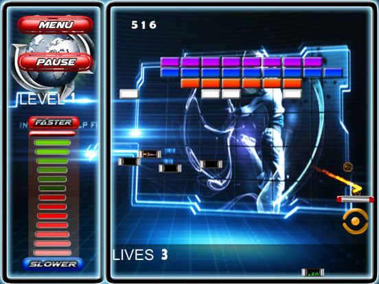 Fire Space Breakout - The Sphere Break Simulator screenshot 9