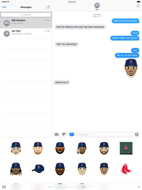 Boston Red Sox 2016 MLB Sticker Pack screenshot 3