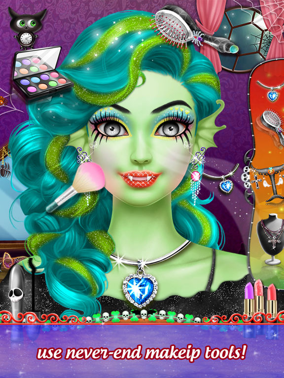 Pretty Halloween Girls Makeup screenshot 8