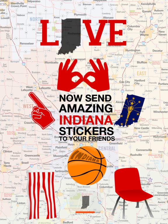 Love Indiana Stickers screenshot 2