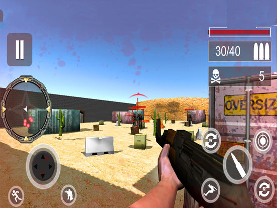 Frontier Commando Z : 3D Free Shooting War Game-s screenshot 6