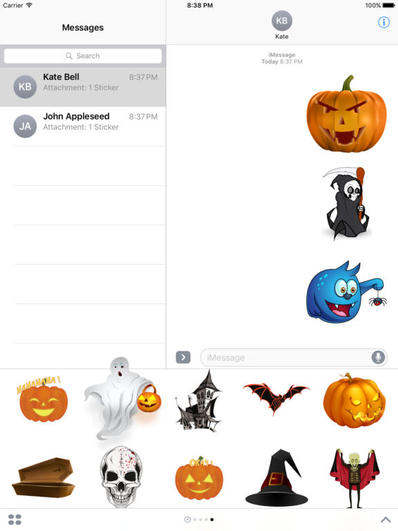 Halloween Freaky Stickers for iMessage screenshot 6