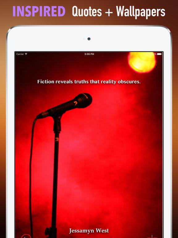 Microphones Wallpapers HD: Quotes Backgrounds screenshot 10