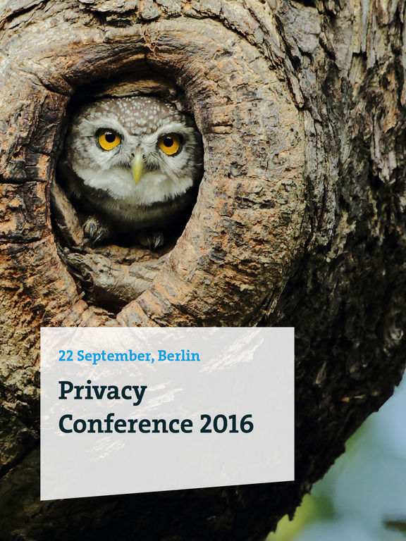 Privacy Conference 2016 screenshot 4
