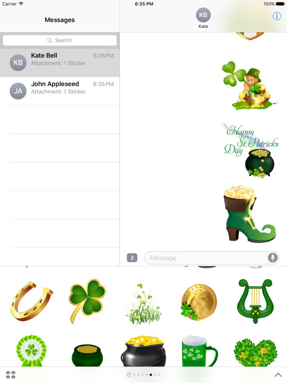 Happy St Patrick's Day Stickers for iMessage screenshot 7