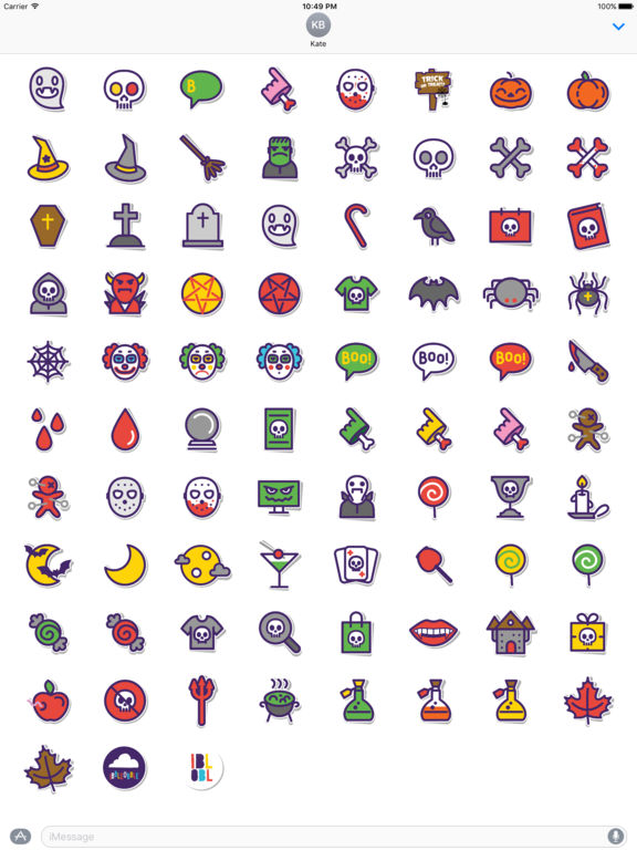 Ibbleobble Halloween Stickers screenshot 10