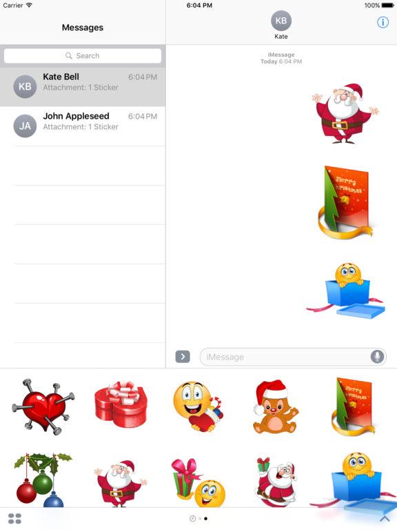 Christmas Set Stickers for iMessage screenshot 10
