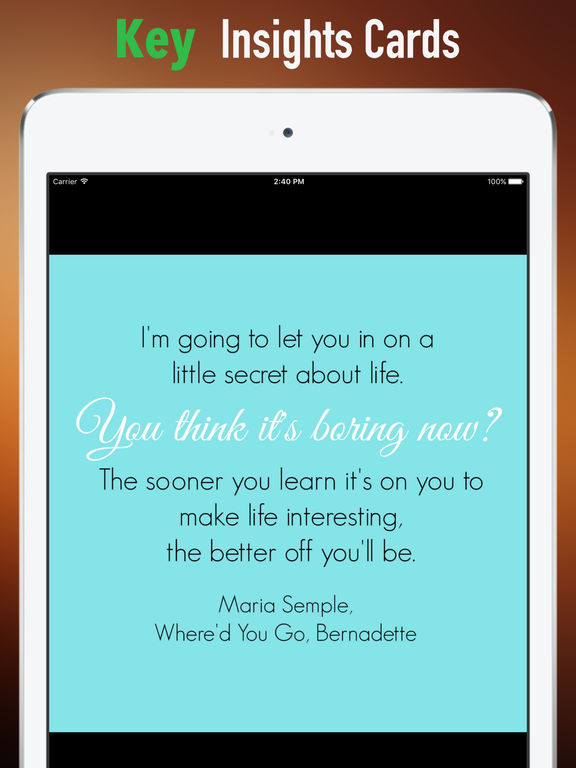 Quick Wisdom from Where did You Go, Bernadette screenshot 9