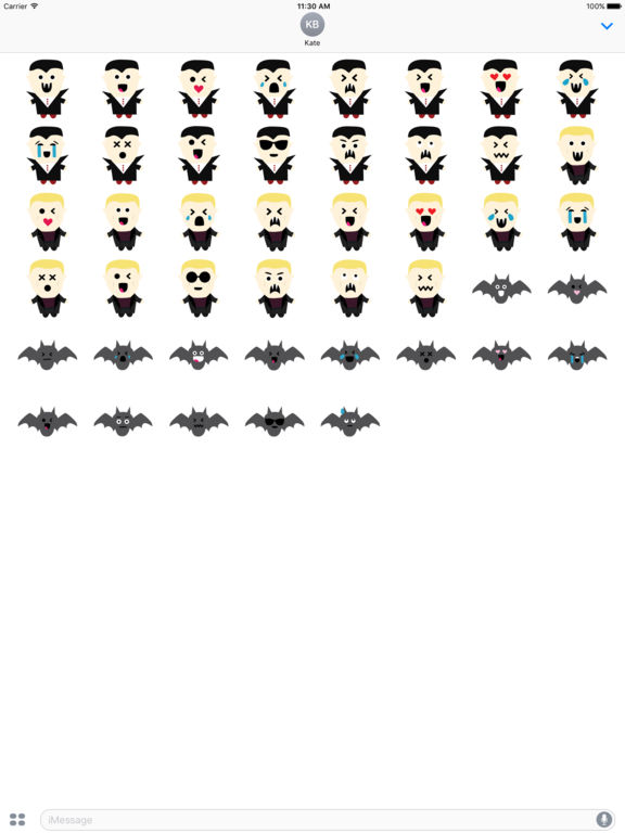 Vampires Emoji screenshot 8