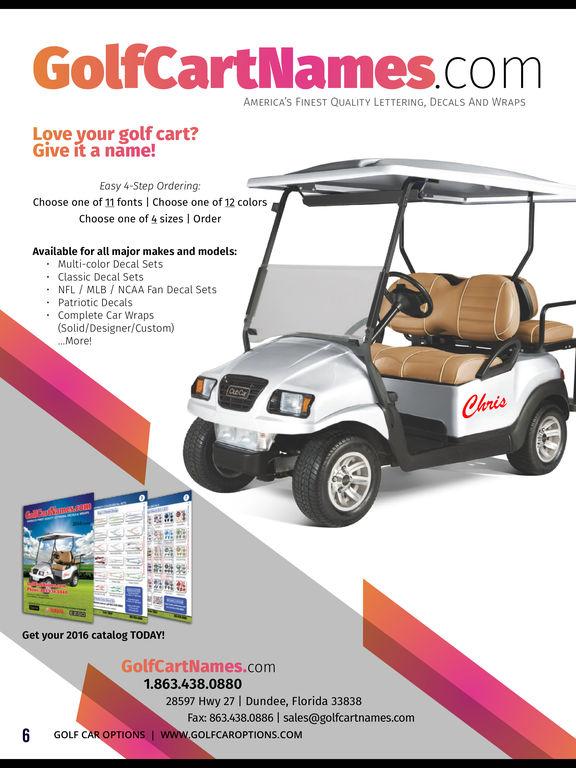Golf Car Options screenshot 7