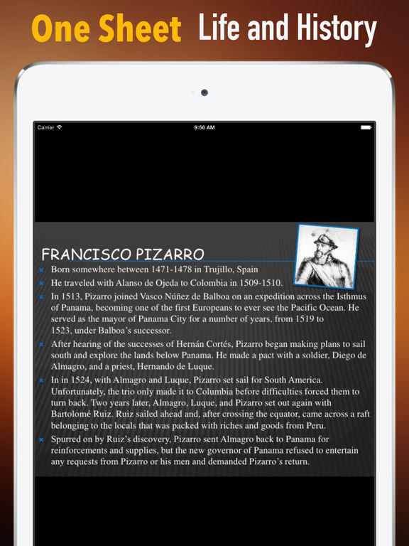 Biography and Quotes for Francisco Pizarro: Life with Documentary screenshot 7