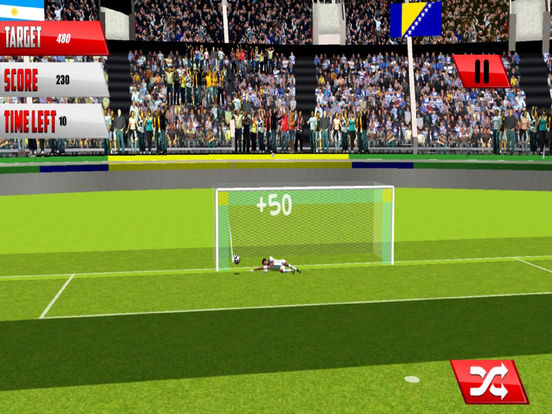 Football Fantasy Flick : Goal Shoot-out socc-er 3D screenshot 6