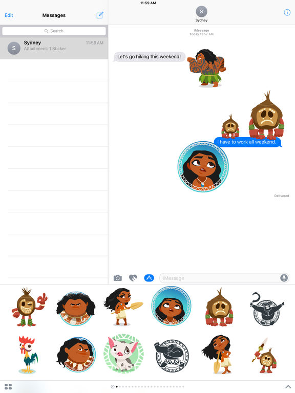 Disney Stickers: Moana screenshot 7