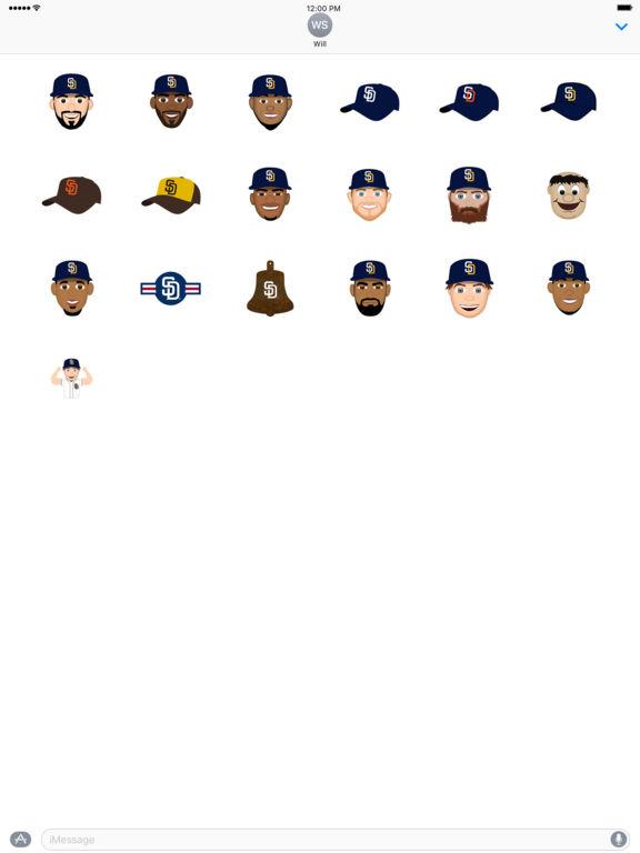 San Diego Padres 2016 MLB Sticker Pack screenshot 3