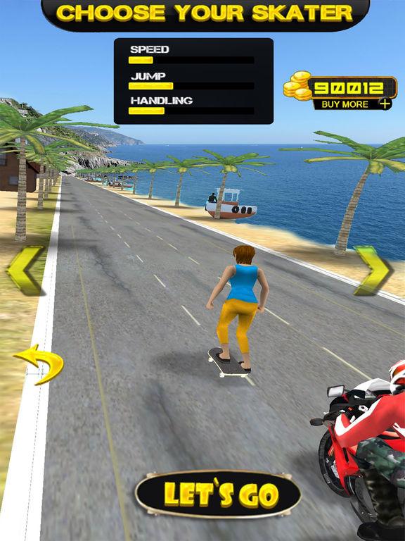 Epic Skater Girl : Extreme & Crazy Skating on Road screenshot 4
