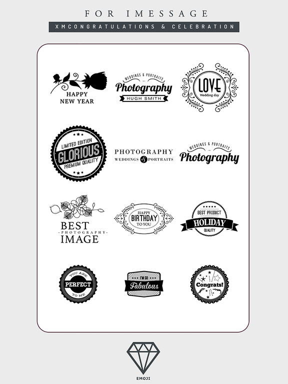 B&W Emoji Keyboard - Gift Sticker for Messenger screenshot 9