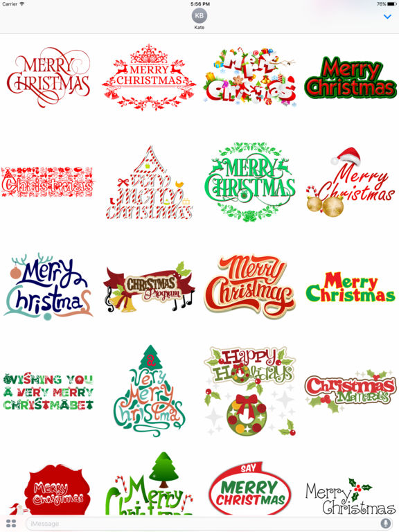 Merry Christmas Wish Typography Stickers screenshot 4