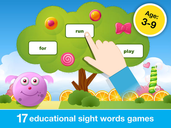 Sight Words Games in Candy Land - Reading for kids screenshot 6