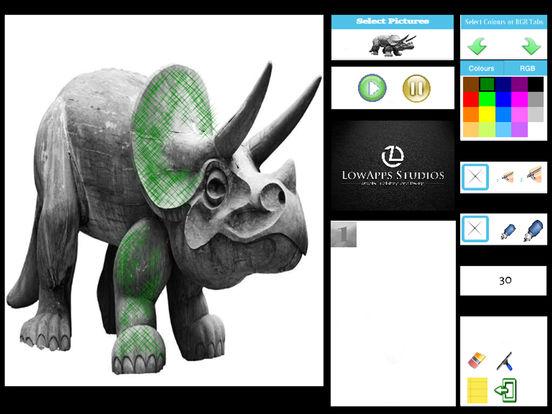 Coloring Dinosaurs for Kids Brontosaurus Stegosaurus and Friends screenshot 4