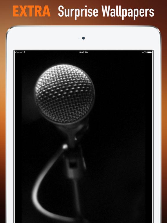 Microphones Wallpapers HD: Quotes Backgrounds screenshot 8