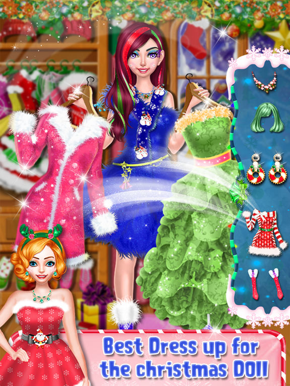 Christmas Doll Makeover Salon screenshot 10