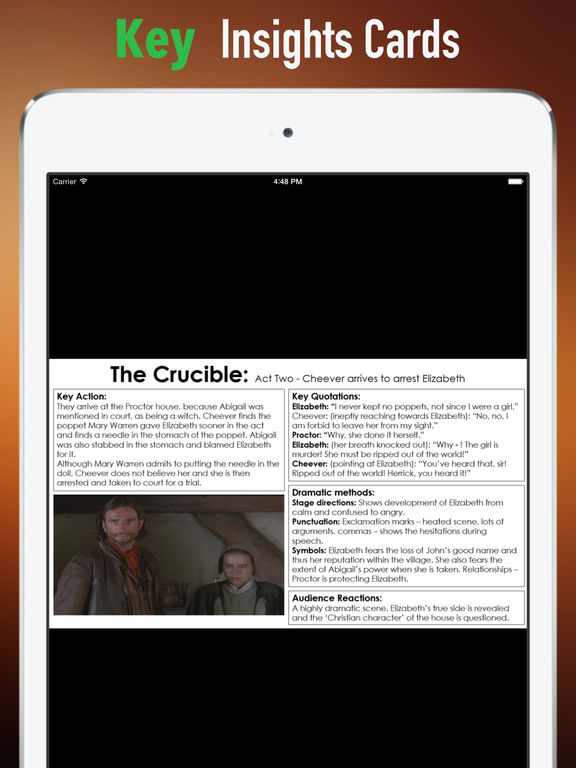 Study Guide for The Crucible: A Play in Four Acts screenshot 9