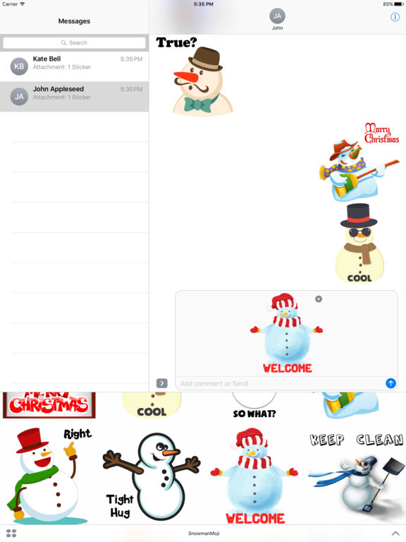 Funny Snowman Stickers screenshot 5