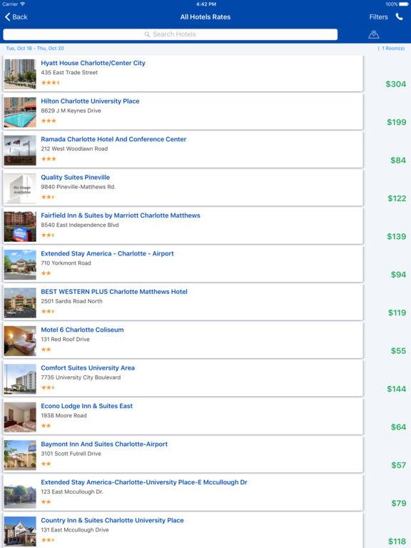 i4charlotte - Charlotte Hotels & Yellow Pages screenshot 8