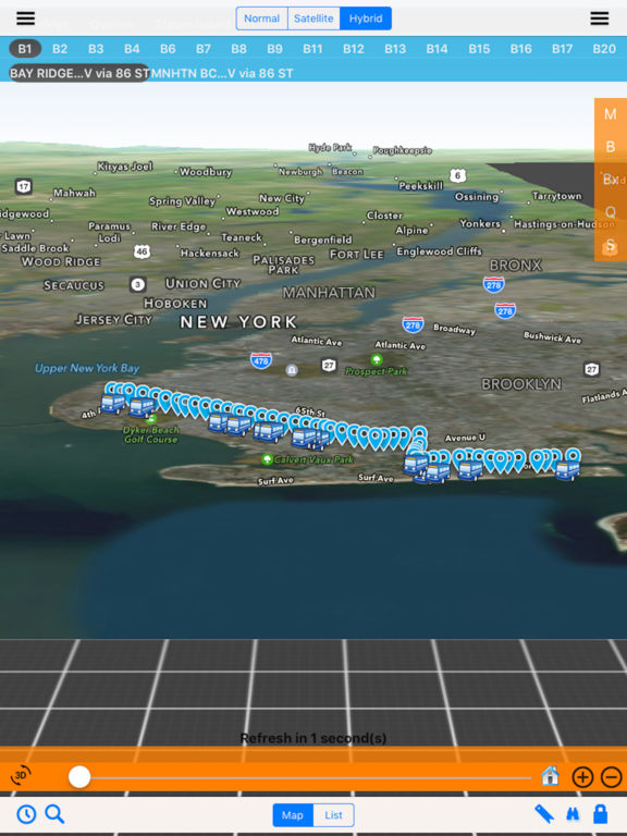 Bus NYC in 3D City View Lite screenshot 7