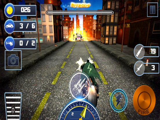 City Bike Shooter 3D screenshot 5