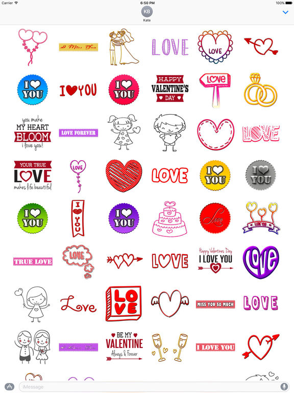 Love Stickers Chat for iMessage screenshot 4