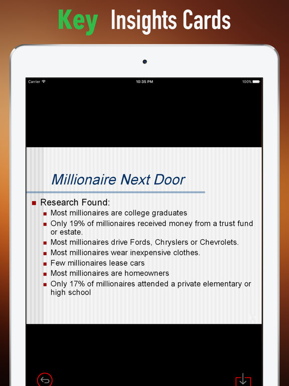 Practical Guide For The Millionaire Next Door screenshot 9