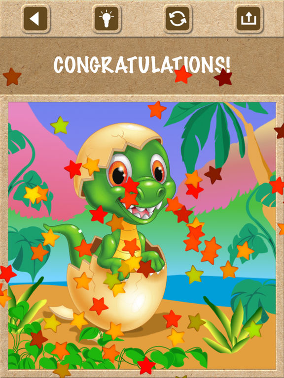 Dinosaur Jigsaw Puzzles - Kids Games for Toddlers screenshot 6
