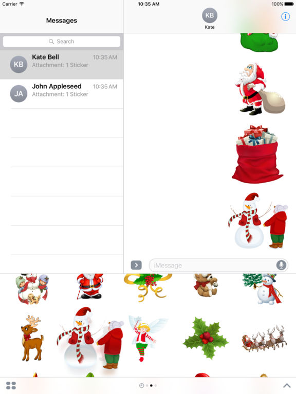 Magic Christmas Stickers iMessage Edition screenshot 6